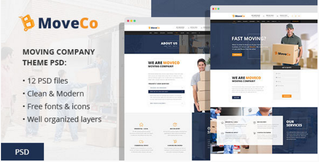 MoveCo - Moving Company PSD Template