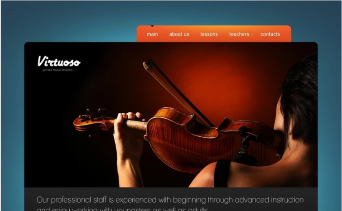 Music School PSD Template