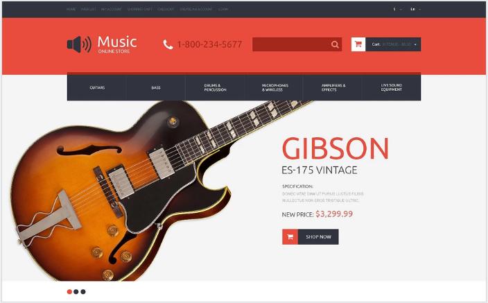 Music Store Responsive OpenCart Template