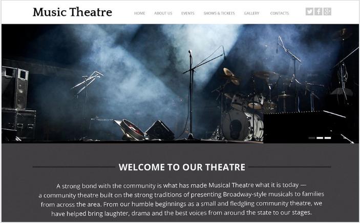 Music Theater Website Template