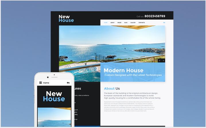 New House Joomla Template