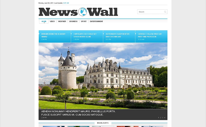 News Portal Responsive Website Template