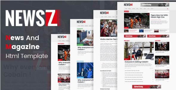 NewsZ - News & Magazine Html Template