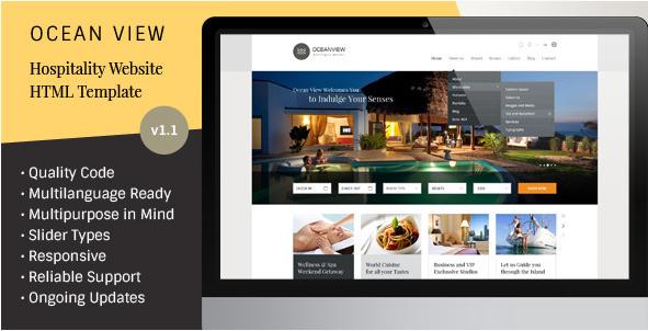 Ocean View - Hotel Website HTML Template