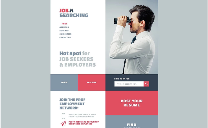 Online Jobsite Website Template