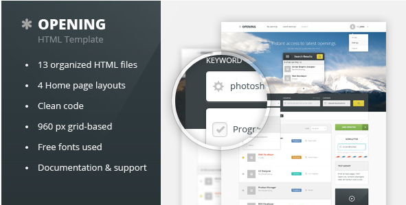 Opening - Job Board HTML Template