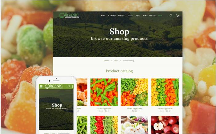 Organic - Agriculture Farm Multipurpose Website Template
