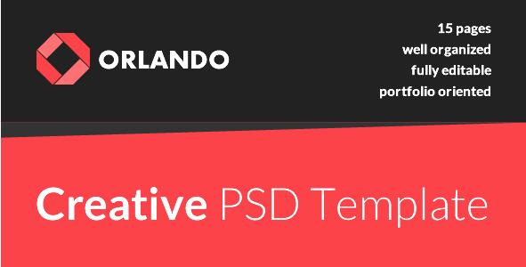 Orlando - Creative PSD Template