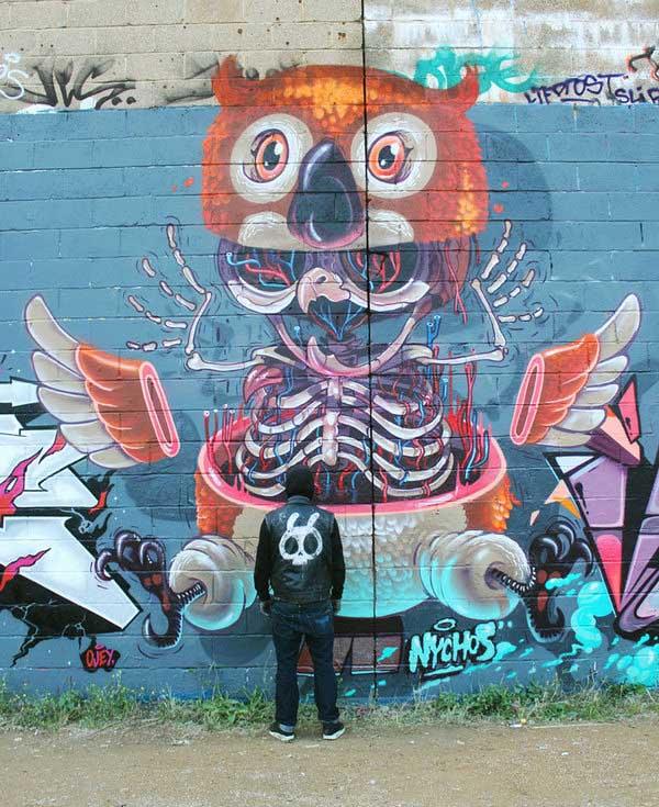 Owl-street-Graffiti