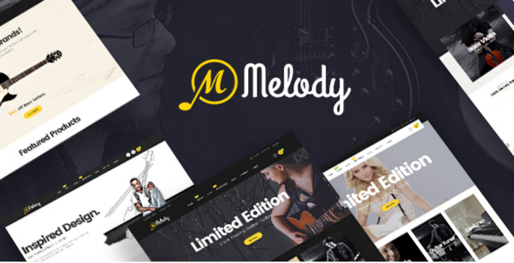 Pav Melody - Best Musical Instruments Opencart theme