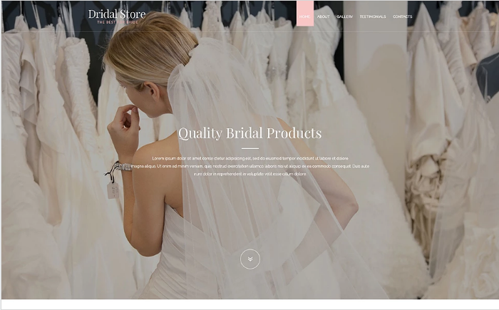 Perfect Bride Website Template