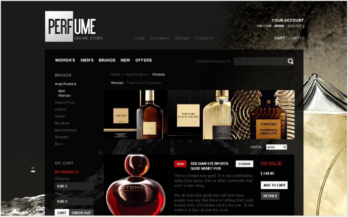 Perfume online shop PrestaShop Theme