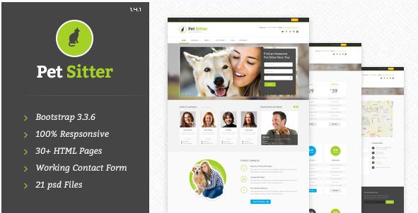 PetSitter - Responsive HTML5 CSS3 Template