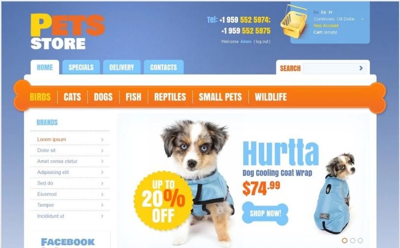 Pets' Store PrestaShop Theme