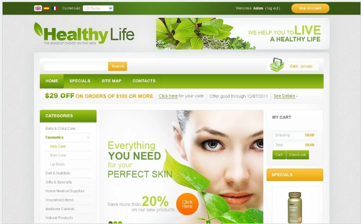 Pharmacy PrestaShop Theme