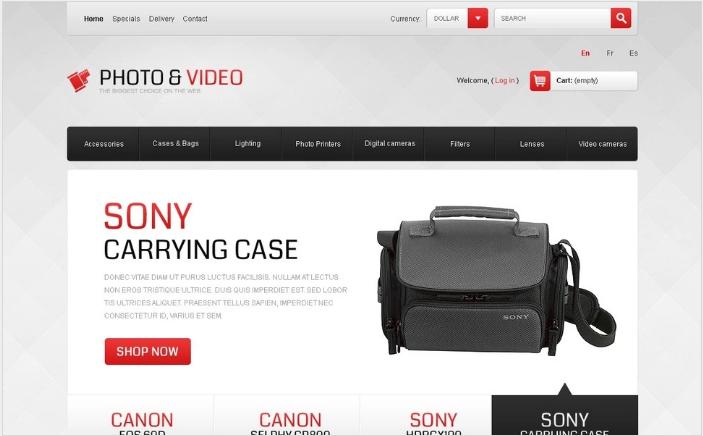 Photo & Video Equipment PrestaShop Theme