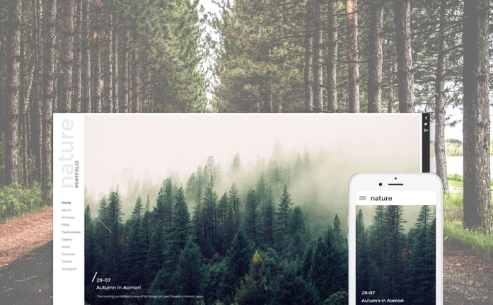 Photography Responsive Website Template