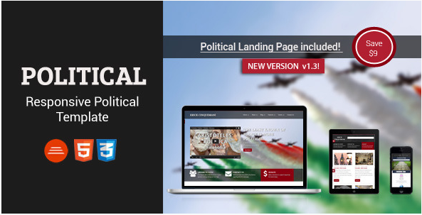 Political - Bootstrap Html5/Css3 Political Page