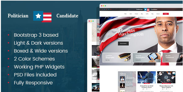 Political Candidate - Politician HTML template