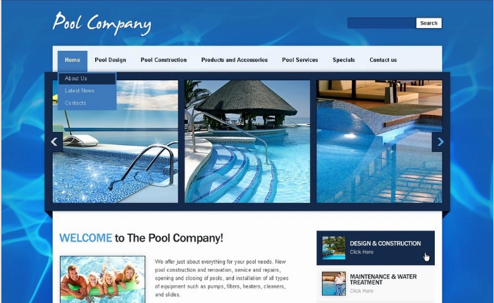 Pool Cleaning PSD Template