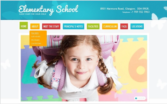 Primary School PSD Template