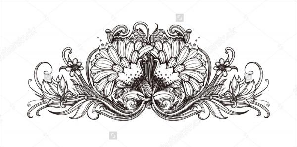 Printable-Black-and-White-Flower-Background