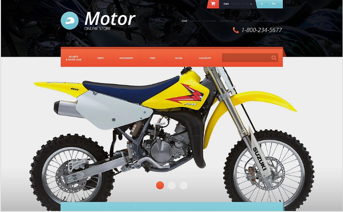 Protective Moto Equipment OpenCart Template
