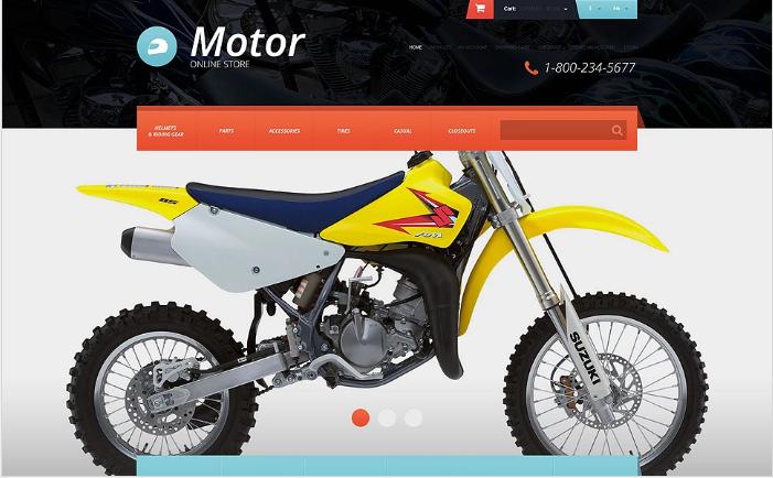 Protective Moto Equipment OpenCart Template
