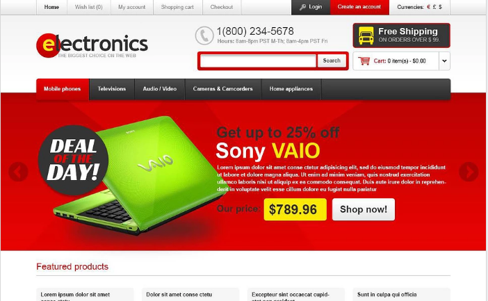Quality Electronics OpenCart Template