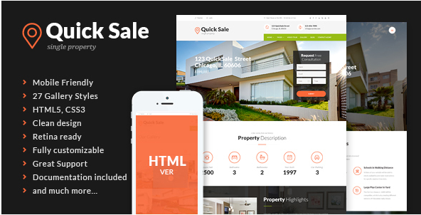 Quick Sale - Real Estate HTML Theme
