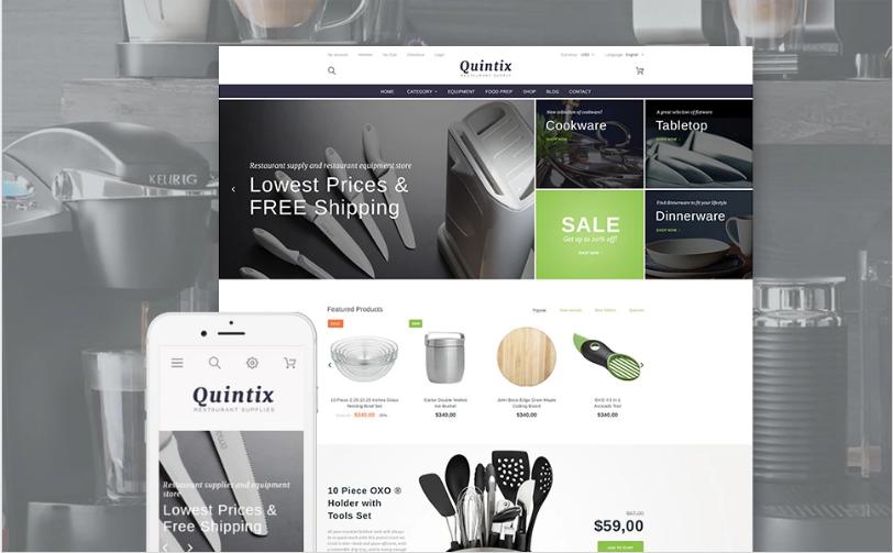 Quintix - Restaurant Supplies PrestaShop Theme