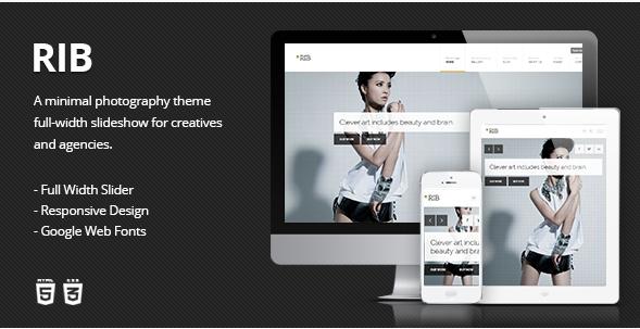 RIB - Responsive HTML5 Photography Template