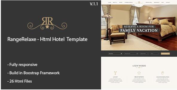 RangeRelaxe - Hotel & Resort HTML Template