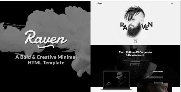 Raven - Minimal Creative HTML Template