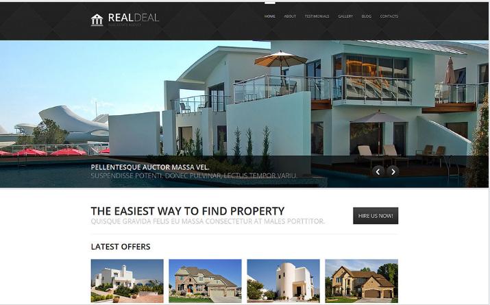 Real Estate Agency Responsive Joomla Template