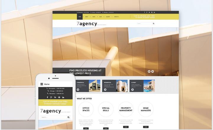 Real Estate Responsive Joomla Template