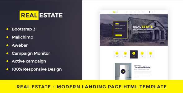Real Estate - Single Property Landing Page HTML Template