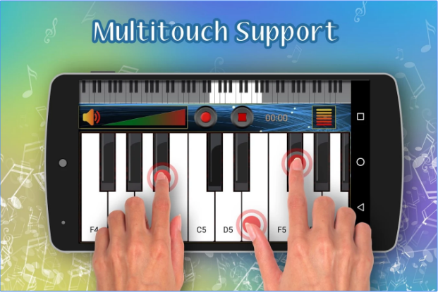 Real Piano Keyboard Topmost Free Music Android App