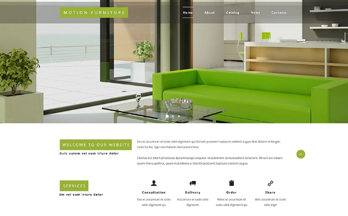 Reclining Furniture Website Template