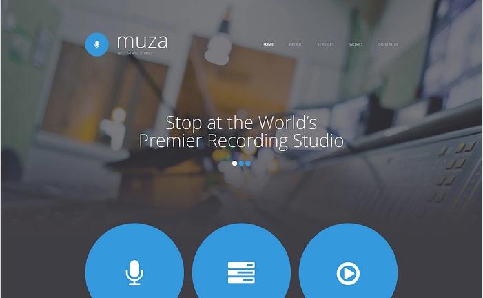 Recording Studio Responsive Website Template