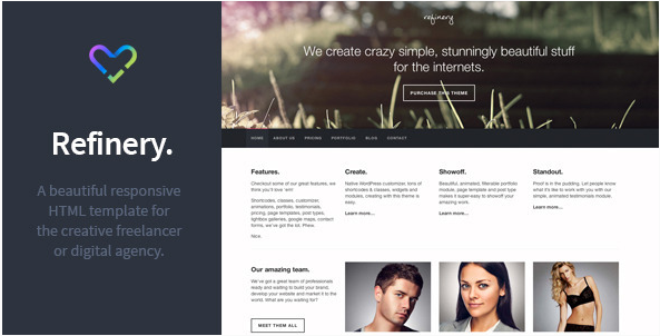 Refinery - Responsive Creative HTML Template