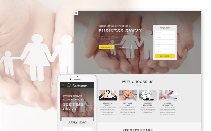 Best Insurance HTML Website Templates