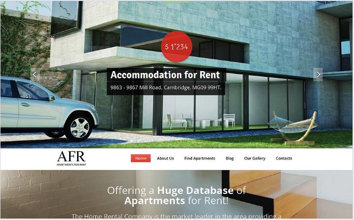 Renting Apartments Joomla Template