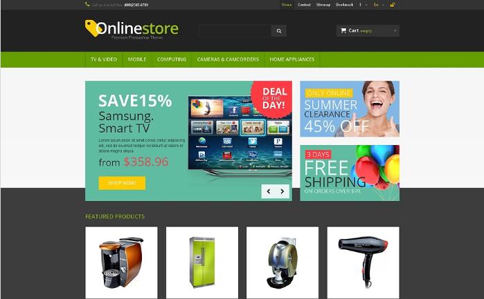 Responsive Online Store PrestaShop Theme