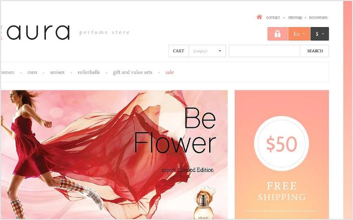 Responsive Perfumes Store PrestaShop Theme