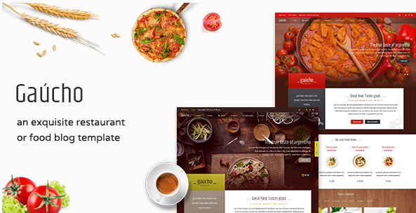 Restaurant, Cafe & Food Menu HTML Template - Gaucho