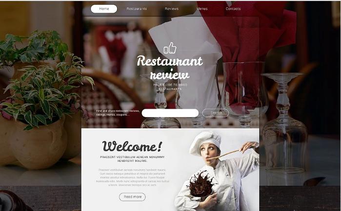 Restaurant Reviews Website Template