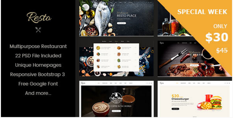 Resto - Multipurpose Restaurant & Cafe Joomla Template