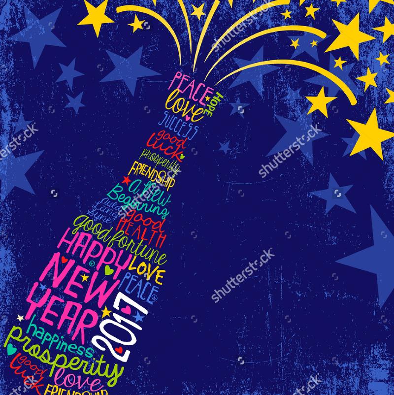 Retro-Design-New-Year-Card