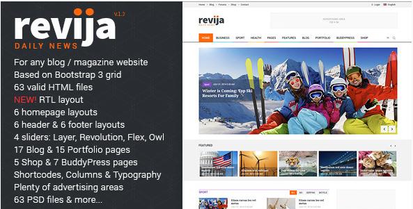 Revija - Premium Blog Magazine HTML Template